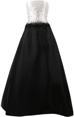 Reem Acra Black Silk Dresses