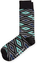 Jonathan Adler Diamond-Print Knit Socks