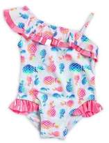 Flapdoodles Little Girl's One-Piece Pineapple-Print Swimsuit