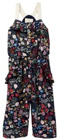 Hannah Banana Floral Print Capri Jumpsuit (Little Girls & Big Girls)