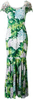 Dolce & Gabbana floral flared maxi dress - women - Silk/Cotton/Polyamide/Viscose - 42