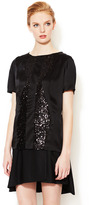 ICB Silk T-Shirt with Sequin Panels