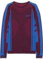 LNDR Colours Paneled Stretch-knit Top