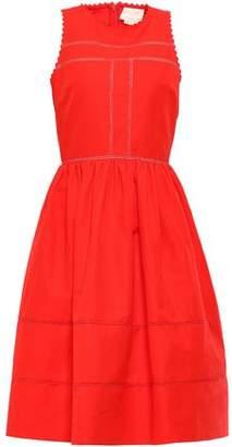 Kate Spade Gathered Cotton And Silk-blend Dress