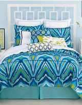 Trina Turk Peacock Three-Piece Comforter and Sham Set