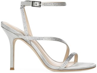 Via Spiga Pavlina Embellished Metallic Satin Sandals