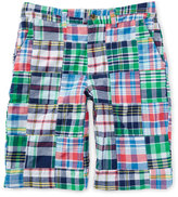 Ralph Lauren Cotton Patchwork Prospect Shorts, White/Blue/Multicolor, Size 2-7