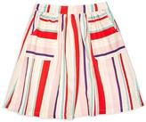 Margherita Kids Girls' Striped Linen Blend Skirt - Sizes 2-7