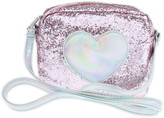 Capelli New York Chunky Glitter Heart Crossbody Bag