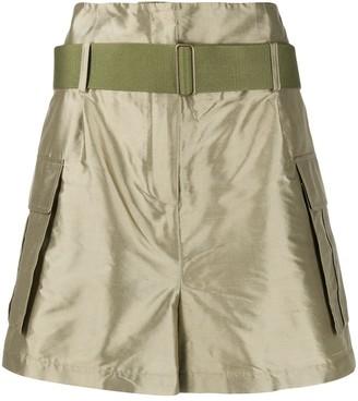 Erika Cavallini High-Waisted Silk Shorts