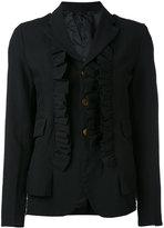 Comme des Garcons ruffle appliqué blazer - women - polyester - S