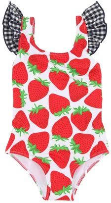 MC2 Saint Barth Strawberry Lycra One Piece Swimsuit