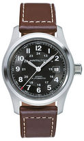 Hamilton Khaki Field Leather Strap Watch