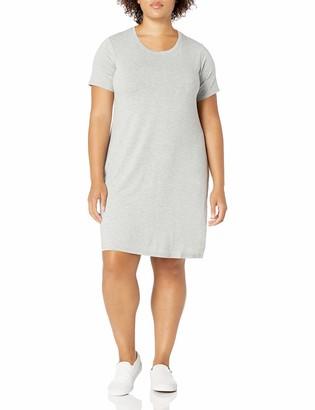 Daily Ritual Amazon Brand Women's Plus Size Jersey Short-Sleeve Scoop Neck T-Shirt Dress 1X