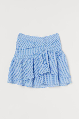 H&M Draped Flounced Skirt - Blue