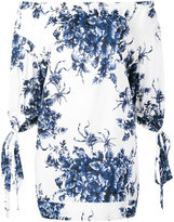 Sonia Rykiel off shoulder printed top