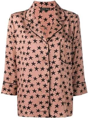 Love Stories star print pajama shirt