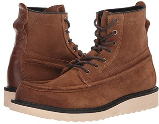 Frye And Co. AND CO. Montana Moc (Smoke Waxed Suede) Men's Boots