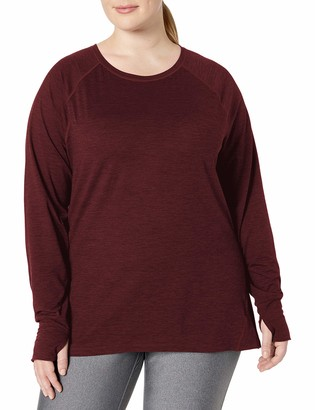 Amazon Essentials Plus Size Brushed Tech Stretch Long-sleeve Crew T-Shirt
