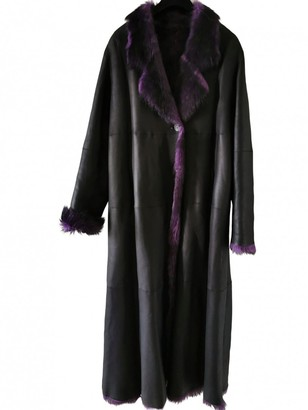 Ted Lapidus Purple Leather Coat for Women