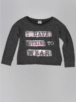 Junk Food Clothing Girls Nothing To Wear Fleece-charcoal-l