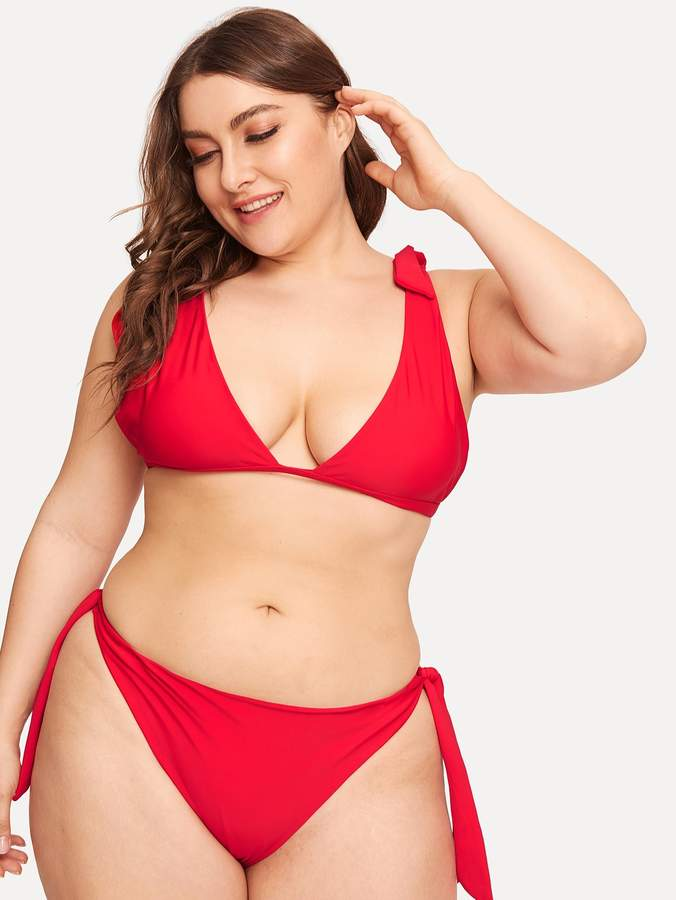 b41f0265a844 Shein Red Plus Size Swimsuits - ShopStyle
