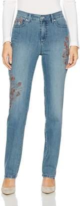 Gloria Vanderbilt Women's Classic Tapered Amanda Jean Bleecker/Rosace Embroidery