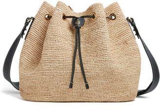Mark Cross Joni Raffia Shoulder Bag