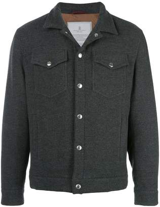 Brunello Cucinelli single-breasted fitted jacket