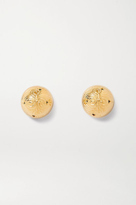 SOFT MOUNTAINS Hourglass Gold Vermeil Earrings - one size