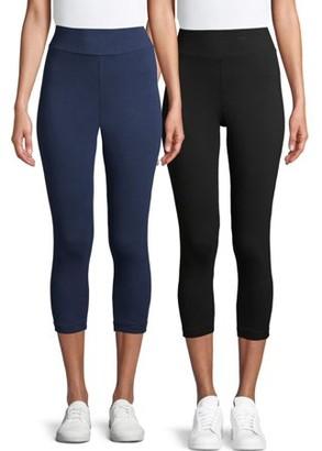 Time and Tru Women's Capri Leggings 2 Pack