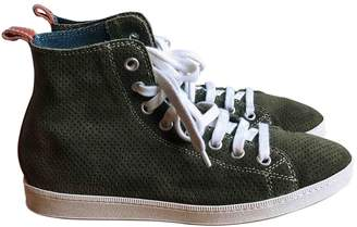 DSQUARED2 Khaki Suede Trainers