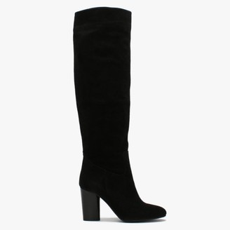 Daniel Lorna Tan Suede Block Heel Over The Knee Boots