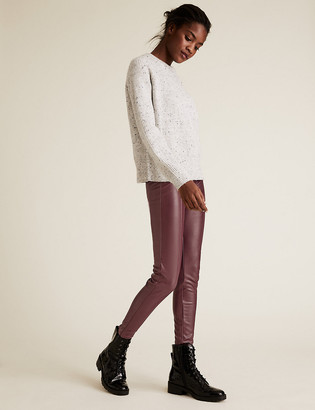 Marks and Spencer Faux Leather High Waisted Leggings