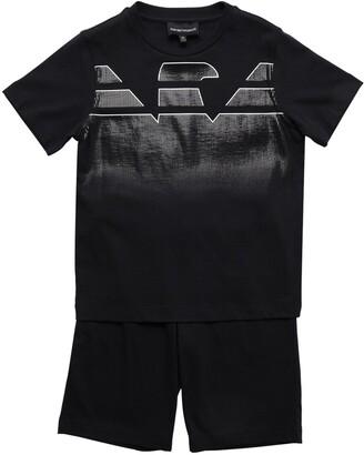 Emporio Armani Cotton T-Shirts & Shorts