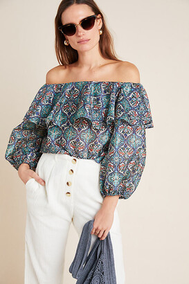 Sachin + Babi Musette Blouse By in Blue Size M