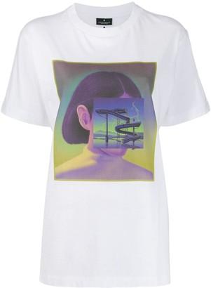 Marcelo Burlon County of Milan Carousel Square T-Shirt White Multicolor