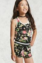Forever 21 FOREVER 21+ Girls Floral Satin Shorts (Kids)