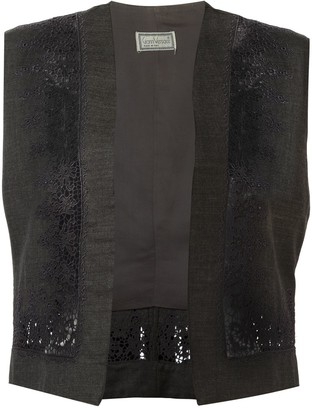 Versace Pre-Owned Floral Embroidered Gilet