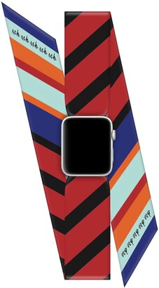 Wristpop Blue Bubble Gum 38mm/40mm Apple Watch Scarf Band with Connectors