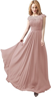Angel Star New Chiffon Floor Long Maxi Evening Bridesmaid Formal Party Prom Dress Gown (10