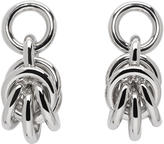Alexander Wang Silver Small Knot Earrings