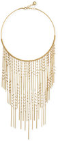 BCBGeneration Gold-Tone Imitation Pearl Fringe Statement Necklace