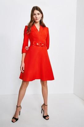 Karen Millen Forever Cinch Waist A-Line Dress