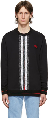 Burberry Black Monogram Stripe Trevon Sweatshirt