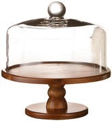 Jay Import Brown Madera Pedestal Cake Plate