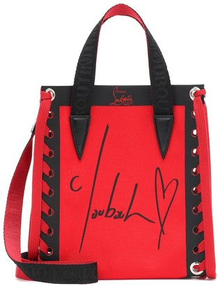 Christian Louboutin Cabalace Mini leather-trimmed tote