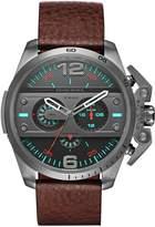 Diesel Men's 48mm Brown Calfskin Band Steel Case Quartz Dial Chronograph Watch DZ4387