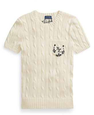 Polo Ralph Lauren Cable Knit Short Sleeve Sweater