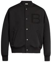 Balenciaga B-appliqué scuba-jersey bomber jacket